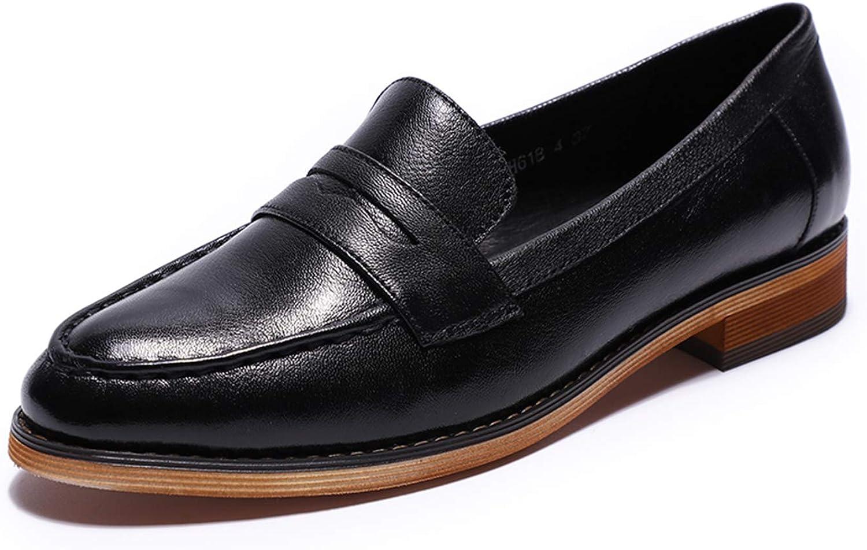 Mona flygande Läder Slip on on on Penny Loafer Casual Flat skor for kvinnor Ladies Girls  professionellt integrerat online köpcentrum