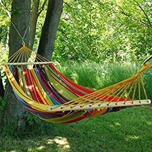 "Customer reviews HAMMOCK ""AMAZONAS"" WITH POLE - UP TO 120KG - COTTON HAND MADE - FAIR TRADE (Variation 2)"