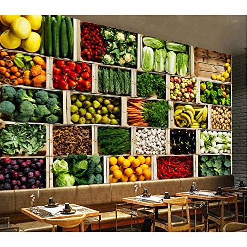 Lovemq 8D Mural De Papel Tapiz Grande Para Verduras Y Frutas Mural Fotográfico 3D Para Cocina Restaurante Tienda De Frutas Murales De Pared 3D Papel De Pared Comedor-260X175Cm