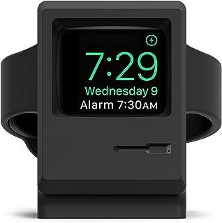 elago Upgraded W3 Stand (Black) for Apple Watch Series 5, 4, 3, 2, 1, 44mm, 42mm, 40mm, 38mm – Old School Design - Original Design Awards [Patent Pending], Nightstand Mode