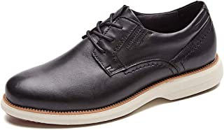 Mens Hybrid Plain Toe Oxford, Lace-up Casual Dress Shoes