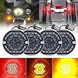 YXYX Luces Motocicleta 3-1/4 3.75 Pulgadas LED 1156 1157 Luces De Señal De Giro Delantera Y Trasera Luces Decorativas De La Motocicleta para Harley Road King Motor (Color : 1 Set)