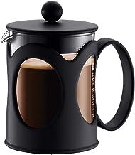 Bodum Kenya koffiezetapparaat (French Press System, permanent roestvrijstalen filter, 0,5 liter), zwart