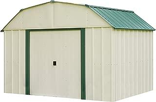 Arrow Vinyl Sheridan Steel Storage Shed, Meadow Green/Almond, 10 x 8 ft.