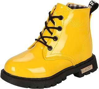 PPXID Garçon Fille Bébé Waterproof Durable Boots,Chaussures à Lacets