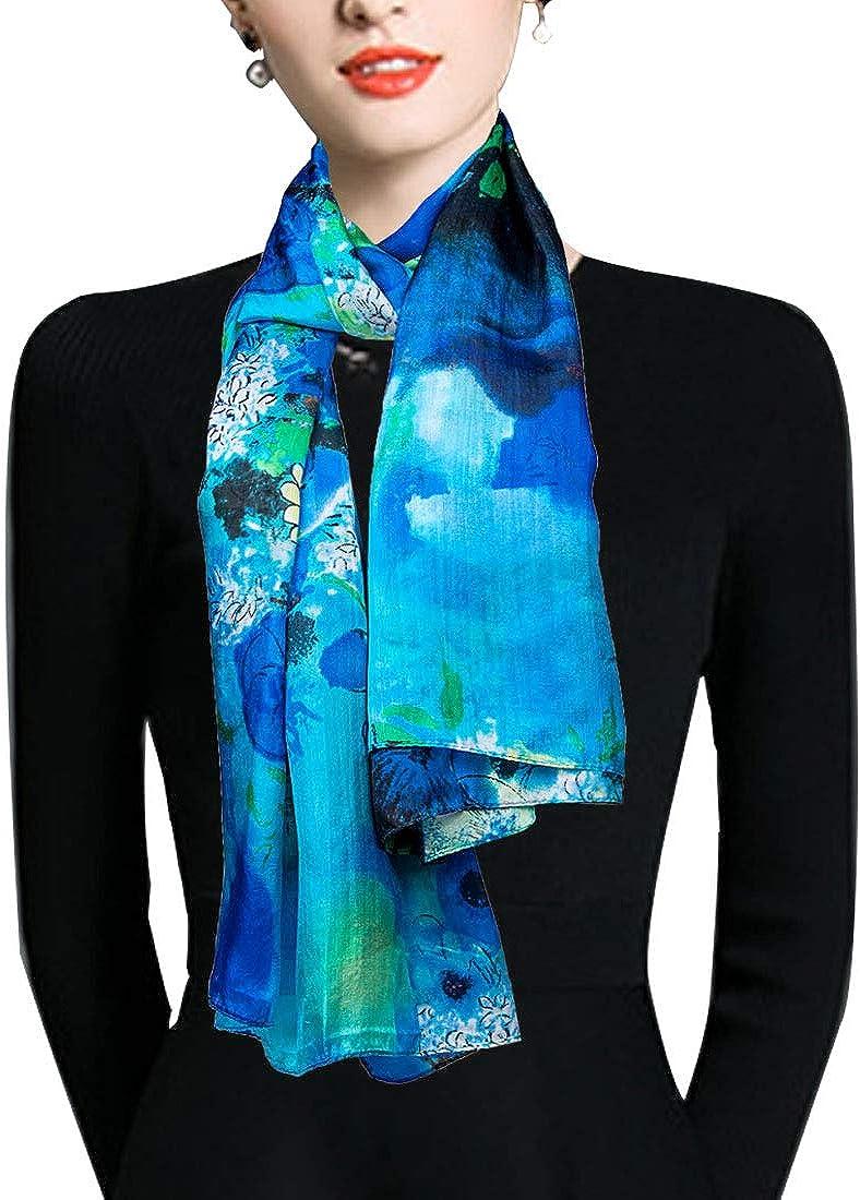 EcoWonder 100% Silk Scarf for L Ranking TOP18 Shawls Selling rankings Women Lightweight Fashion