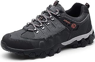 para Hombre Botas de Senderismo Impermeables de Ocio al Aire Libre Zapatos de Deporte Zapatillas de Senderismo Cordones Trainer Botas 38-44