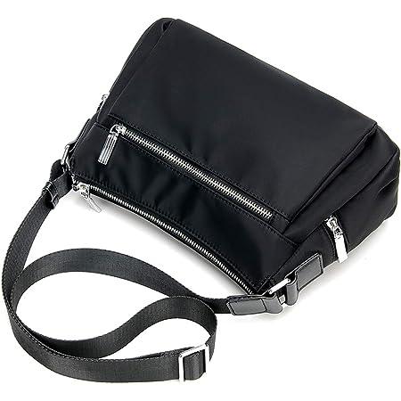 ZMDB Nylon Umhängetasche für Herren/Damen Schwarz, Wasserdichte und Leichte Handtasche mit Verstellbarem Riemen, Diebstahlsicherer Strapazierfähige Wickeltasche für Mutter Säuglingspflege Einkaufen