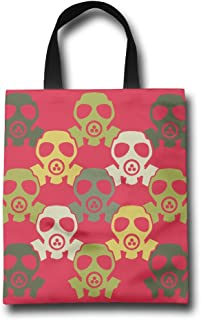 Ming Horse Gas Mask Pattern Reusable Shopping Grocery Tote Bag Household