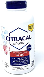 Citracal maximum with Vitamin D3, Limitedd Larger sizee - 280 Count Total