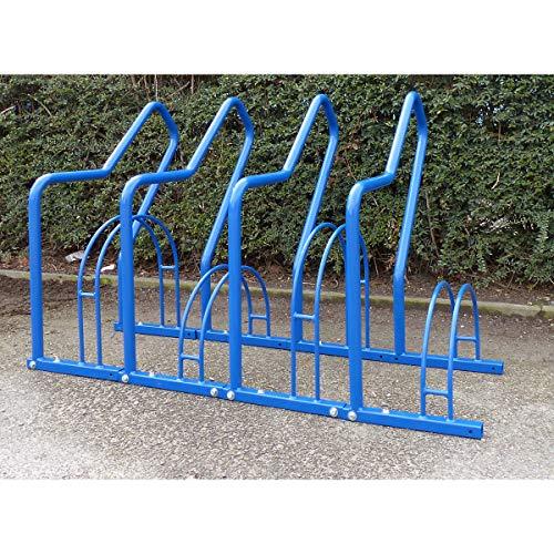 Range–vélos à arceaux, 4 emplacements - peint - Etrier Rangée de supports Support cycles Support pour bicyclettes Support pour cycle Support pour cycles Range-vélos Support-cycles Supports cycles Supports-cycles