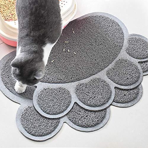 HOPORISE Tappetino Lettiera Gatto, Cat Feeding Tappetino Resistente Impermeabile Cat Litter Mat, Tappetino Pet Food Alimentazione facile da pulire, Tappetino per gatti 16*12 inches, 2pcs.
