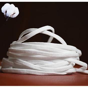マスクゴム紐 平ゴム 白 ソフト替えゴム ゴムひも 幅5mm 10m/20m手芸/ハンドメイド/洋裁 ホワイト (20M)