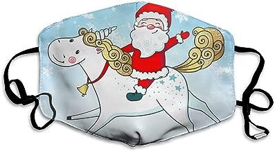 FEDSQ Unisex Fashion Mask Santa Claus Riding Unicorn Dust Allergy Influenza Mask Ski Bike Half Mask