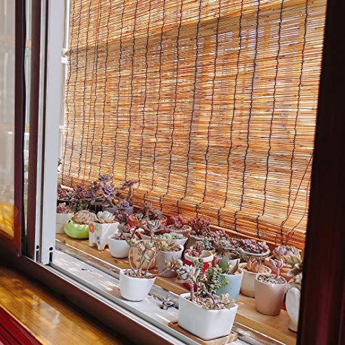 F-XW Persiana/Estor Enrollable de Bambú para Interior o Exterior, Natural 80 x 200/80 x 250/90 x 200/100 x 250/110 x 300cm