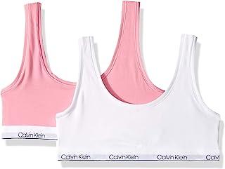 Calvin Klein 大女孩现代棉质2件装经典露脐文胸