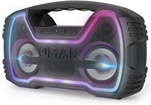 AOMAIS 25W Bluetooth Speakers with HD Stereo Sound & Deep Bass, Portable Outdoor Wireless Stereo Pairing Speaker, IPX7 Waterproof, Built-in Mic, 100ft Bluetooth Range for Party, Camping, Murk