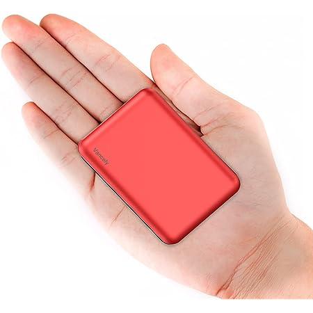 Vancely Batería Externa, Mini Power Bank 10000Mah Cargador Portátil con Gran Capacidad y Doble Salida USB (5V / 2.4A), para iPhon, IPA, Samsung Galaxy, Huawei Y Otros Smartphones y Tableta