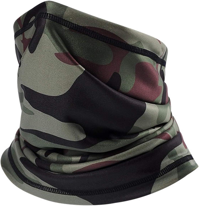 Camo Neck Warmer - Winter Fleece Neck Gaiter Ski Tube Scarf & Half Face Mask - Thermal & Windproof
