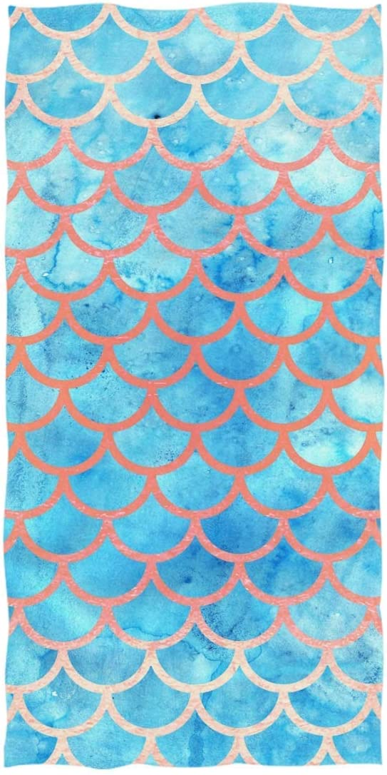 rodde Towel Complete Free Shipping 74x37 Inch Blue Mermaid Pool Beach Scales Q Blanket OFFicial mail order