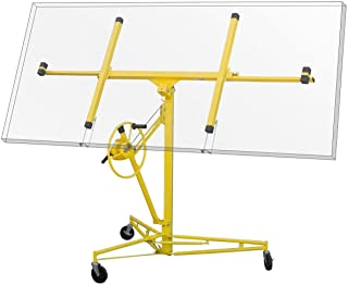 Stark 11' Drywall Rolling Lifter Lift Up 150Lbs Panel Hoist Jack Caster Construction Tool Dry Wall Lift w/Caster Wheel, Yellow