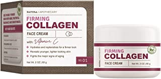 Natura Apothecary Firming Collagen Face Cream with Vitamin C, Hydrates & Replenishes for Firmer Look, Reveals Younger, Tig...