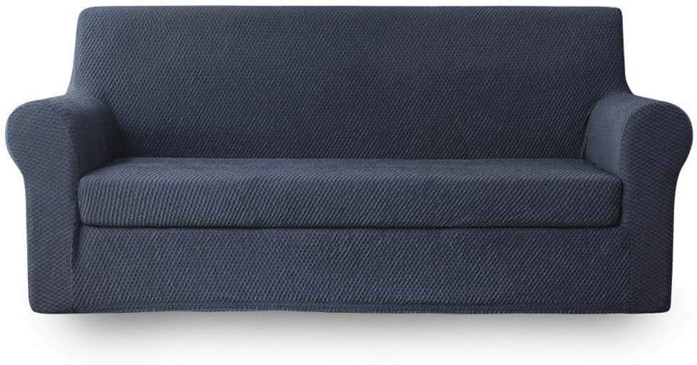 NICEEC Sofa Slipcover Dark Grey Piece Full Two-Tone Cover 2020モデル 2 マーケット