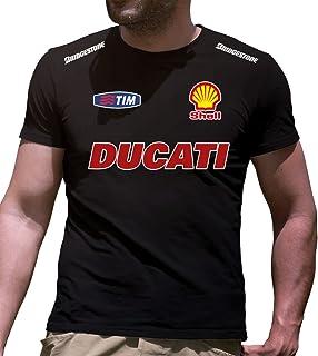 T-shirt maglia per moto DUCATI 749 corse battito cuore tshirt maglietta