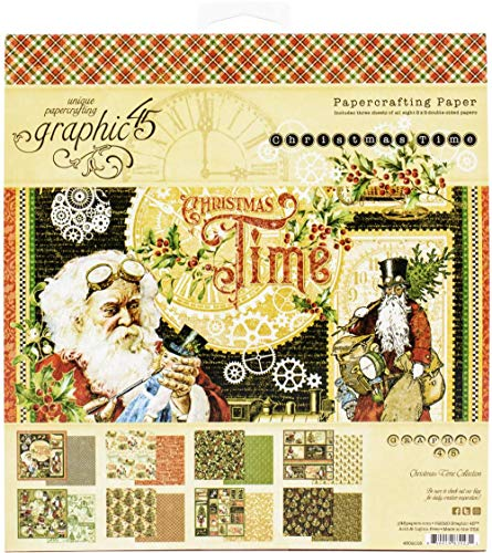 Graphic 45 Christmas Time 8'x8' Paper Pad