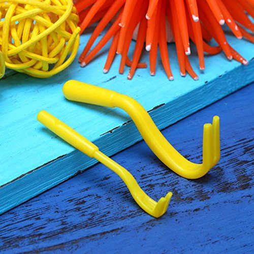 2Pcs Fleas Lice Twister Hook Tool Remover Plastic Portable Horse Human Pet Cat Dog Pet Supplies Tick Remover Tool Color Yellow