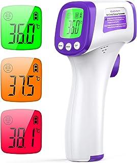 Termometro Infrarrojos JOYSKY Termometro Digital Infrarrojo sin Contacto con Pantalla LCD y Alarma de Fiebre Termómetro La...