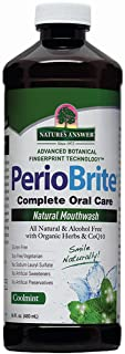 Nature's Answer PerioBrite Alcohol-Free Mouthwash, Cool Mint, 16-Fluid Ounce