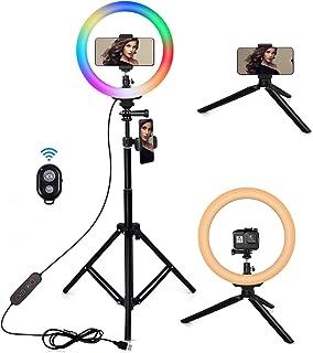 25,4 cm Live Stream Ring Selfie Licht 26 RGB Modi 8 Helligkeitsstufen dimmbar Schreibtisch Make up Schönheit LED Ringlicht für Vlogs Selfie