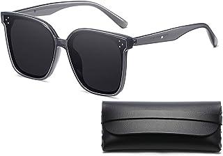 Classic Polarized Sunglasses for Men Women Retro 100% UV Protection Fashion Driving Sun Glasses, Grey