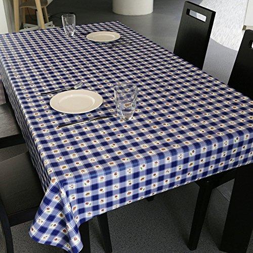 Nappe facile essuyez les clips en plastique de pvc du rectangle lavable de dîner pour des parties salle à manger garden hotel cafe restaurant anniversaire simple réseau imperméable-D 65x65cm(26x26inch)