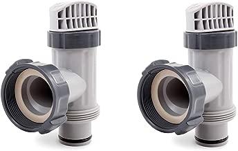 Intex Piscina sobre suelo émbolo Válvula de repuesto parte (Pack de 2)
