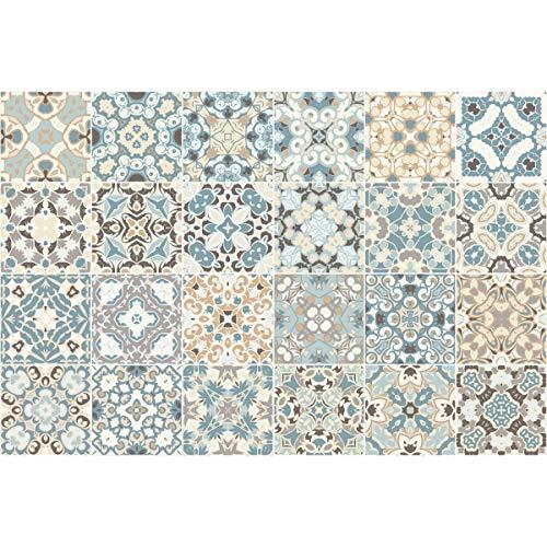 Cuadros de Cemento Adhesiva Pared–Azulejos–15x 15cm–24Piezas