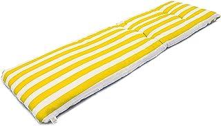 Coussin de Chaise Longue Bain de Soleil, Coussins de Matelas Chaise Longue de Jardin Transat, Dimensions 180 x 55 x 8 cm, ...
