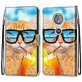 nancencen Coque Compatible avec Motorola Moto E5 / G6 Play, Flip Housse Fente pour Carte WalletÊtre...