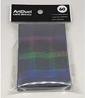 Yugioh Card Sleeves - Prismatic Holographic Matte Black - 60ct