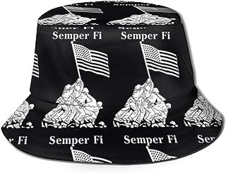EU Semper Fidelis Packable Pesca Caza Summer Travel Bucket Cap Sombrero