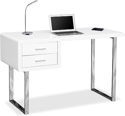 Centurion supporta Avianca nero lucido con incavo cromato gambe cassetti pratico casa ufficio scrivania per computer