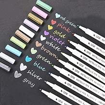 Rotuladores Metálicos, Lypumso 10 Unidades de Marker Pen para álbum de Fotos DIY/Cualquier Superficie/Tarjetas/Libros de Colorear Para los Adultos/Niños Garabateando/Cómic Gráfico - Eco Amigable