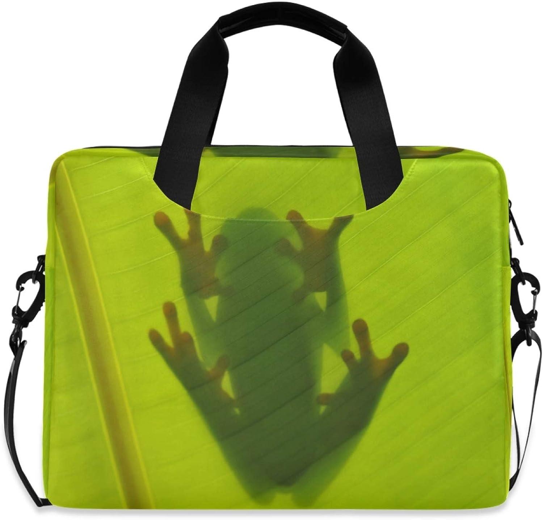 MLHlover Tropical Leaves Factory outlet Animal Frog Bag Shoulder inch Luxury 16 Laptop
