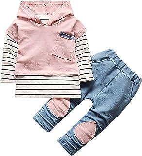 Conjunto Bebé, Recién Nacido Bebé niño niña Rayas Camiseta Tops + Pantalones Conjunto de Ropa 6 Mes - 3 Años