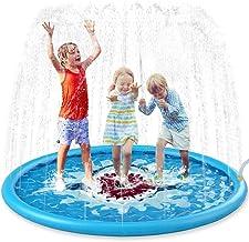 "Jasonwell Sprinkle & Splash Play Mat 68"" Sprinkler for Kids Outdoor Water Toys Inflatable Splash Pad Baby Toddler Pool Boy..."