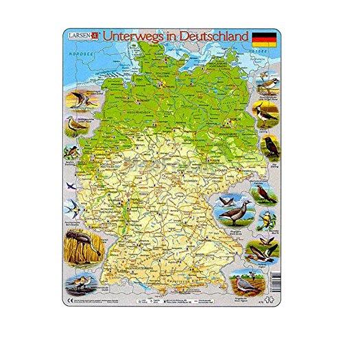"""Larsen K72 Rahmenpuzzle """"Unterwegs in Deutschland"""" 91 Teile"""
