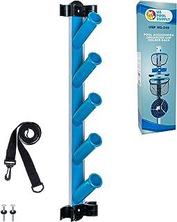 U.S. Pool Supply Organizador de accesorios de limpieza de piscinas y soporte – Almacenar varillas, cepillos, redes, aspira...