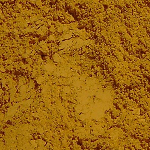 Dark Yellow Ochre France Natural Mineral Pigment – Pigments for Concrete, Clay, Lime, Masonry and Natural Paint Products (1 Kilo | 2.2 lbs)