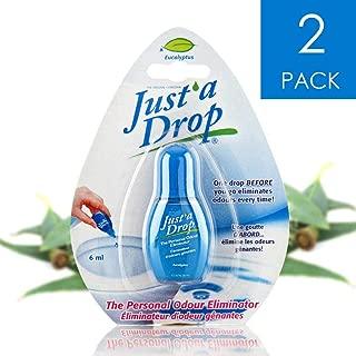 Just a Drop (R) - America's Favorite Bathroom Odor Eliminator - Travel Size 6 ml / 200+ Uses / Eucalyptus Scent - 2-Pack!